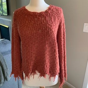 Very J Fringe Sweater